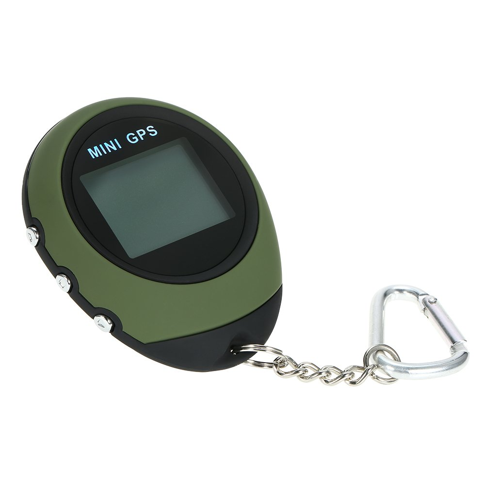 Walmeck Mini GPS Tracker Portable Keychain Locator Handheld Tracking Device for Travel Vehicle Outdoor Sports