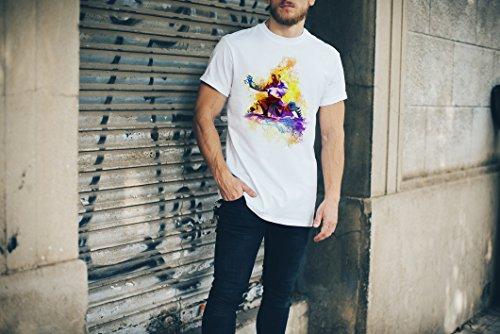 Kung Fu Herren T-Shirt Sport Motiv aus Paul Sinus Aquarell