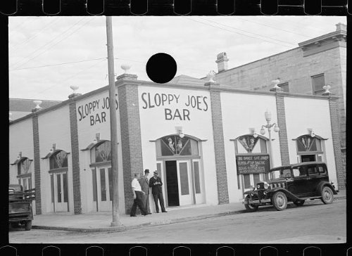 (Vintography Reproduced Photo of: Sloppy Joe's Bar,Key West,Florida,FL,Arthur Rothstein,January 1938,FSA,1)