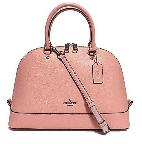 Coach Cross Grain Leather Sierra Satchel Crossbody Bag Purse Handbag (Blush) by Coach
