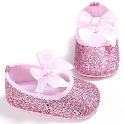 Neugeborene Baby Krippe Saingace Blume Sneakers Kleinkind Soft Mädchen Rosa Anti Sohle Schuhe Rutsch qxvIC
