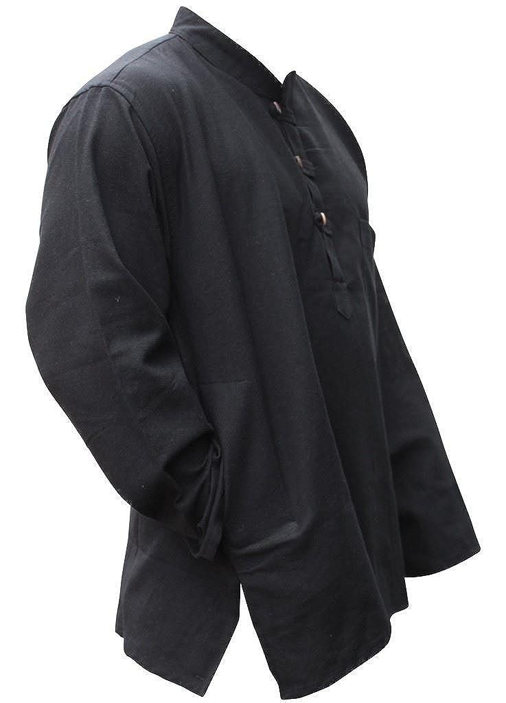 Shopoholic Unisexe Coton Chemises Gris Chanvre Clair Fashion Hippie Tcl1FuKJ35
