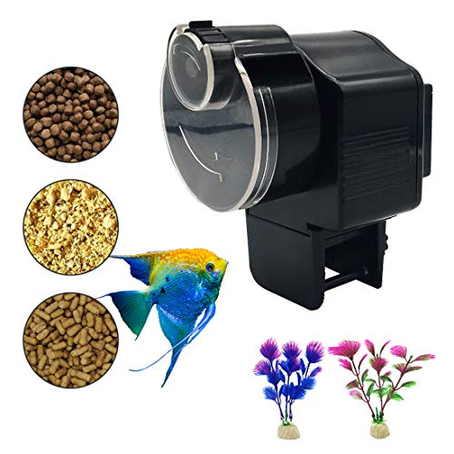 Bnzaq Automatic Fish Tank Feeder - Aquarium Auto Timer Food Dispenser for Vacation (Timers For Tanks Fish)
