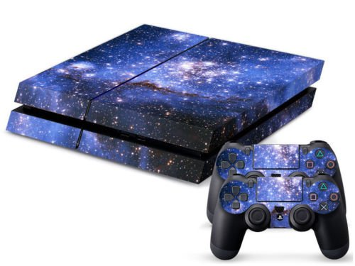 Starry Sky Galaxy Vinyl Skin Decal Cover for Sony PlayStation 4 PS4 Console Sticker
