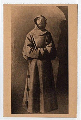 Chateau de Villandry, Monk in Ecstasy, Villandry, France Vintage Original Postcard #4188 - Early 1900's - Villandry Chateau