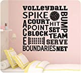 24' Volleyball Sports Sayings Collage Spike Team Serve Set Net Wall...