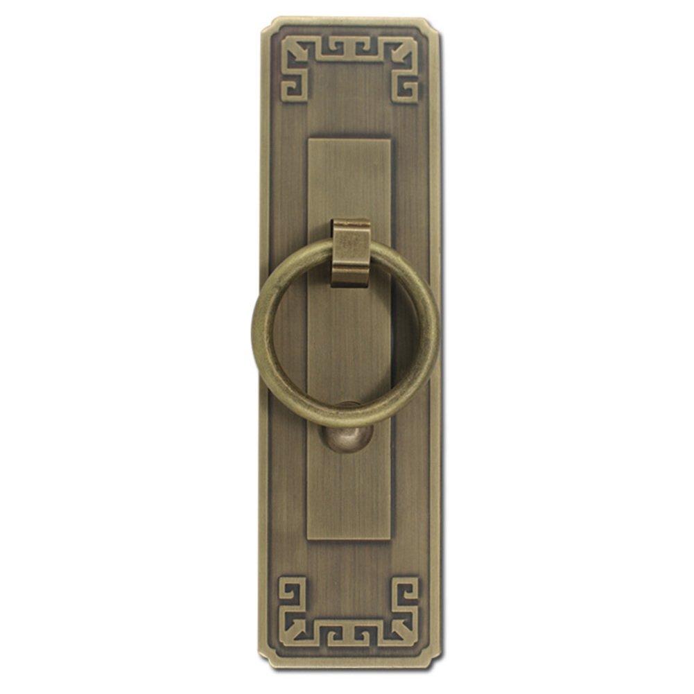 16cm-R Klopfer,Chinesisch zu behandeln Kupfer antik klopfer Holzt/ür griff T/ür /& fenster griff T/ürschloss M?belgriffe Knopf Kabinett frontplatte 4.5cm