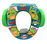 Nickelodeon Teenage Mutant Ninja Turtle Buddies Seat - Padded, Soft and Durable - For Regular and Elongated Toilets - Removable Cushion for Easy Cleaning - Firm Grip Handles