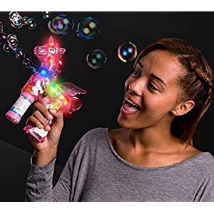 blinkee LED Light Up Unicorn Bubble Gun by