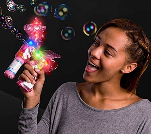blinkee LED Light Up Unicorn Bubble Gun by 3