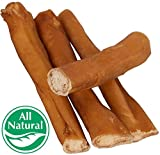 5″ Straight Bully Sticks for Dogs or Puppies (250 Pack) All Natural & Odorless Bully Bones | Grass-Fed Beef | Medium Thickness Long Lasting Dog Chew Dental Pizzle Treats | Best Thick Bullie Stix For Sale