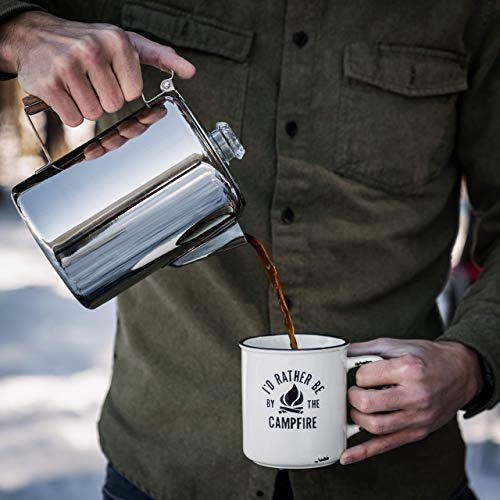 ColettiBozeman Percolator Coffee Pot - 9 CUP Camping Coffee Pot | Coffee Percolator