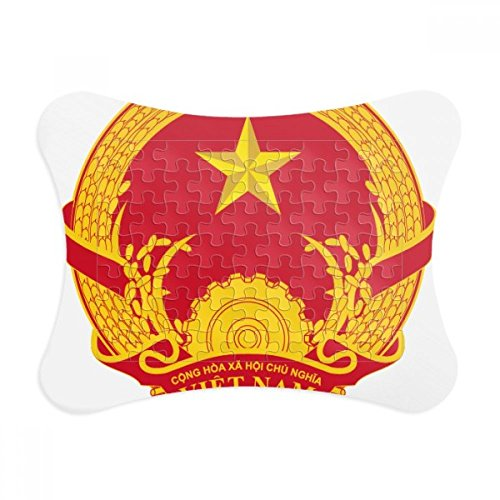 - Vietnam Asia National Emblem Paper Card Puzzle Frame Jigsaw Game Home Decoration Gift