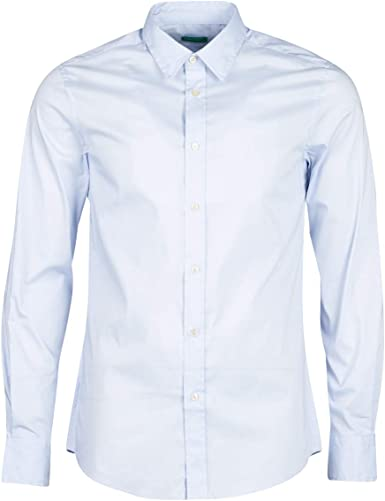 United Colors of Benetton Basico 1 Man Camisa Casual, Azul ...