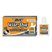 Líquido corrector de secado rápido BIC Wite-Out - Paquete de 3 (BICWOFQD324)