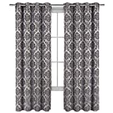 Set of 2 Panels 108″Wx120″L -Royal Tradition – Aryanna – Grey – Jacquard Grommet Window Curtain Panels, 54-Inch by 120-Inch each Panel. Package contains set of 2 panels 120 inch long Review