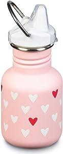 Klean Kanteen Kid Kanteen 355ml Bottle Sippy Cap Millennial Hearts