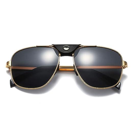SHEEN KELLY Gafas de sol piloto Gafas de sol de cuero ...