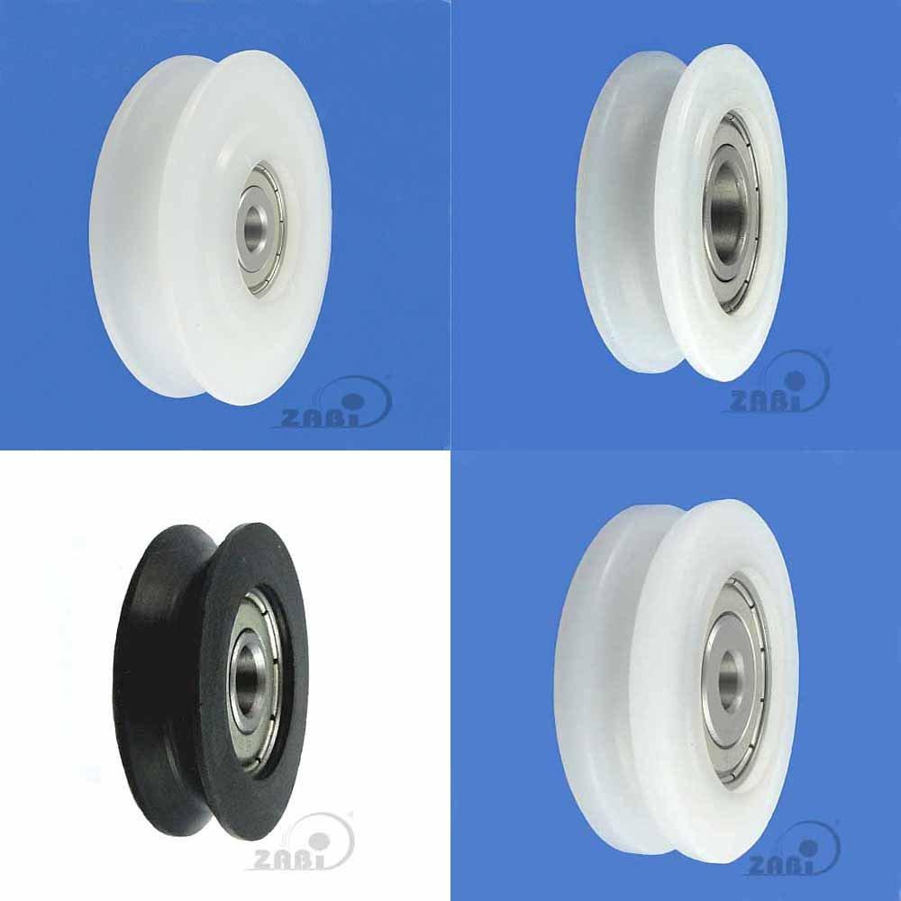 ZAB-S C29/4LL Profil- Kunststoffrolle mit Kugellager fü r Seil Polyamid Ø 29-Ø 60 Rollen (C29/4LL) zscale