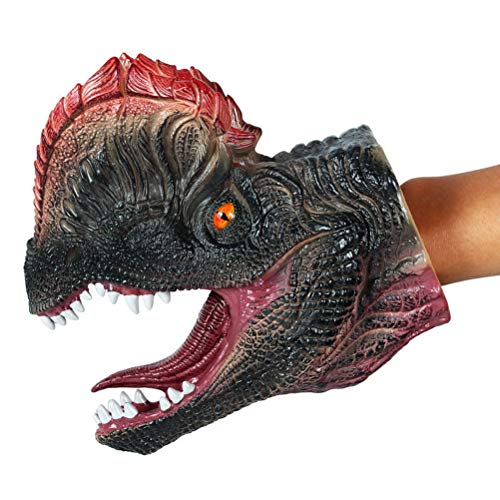 Toyvian Dinosaur Hand Puppet | Rubber Realistic Raptor Toys Kids - -