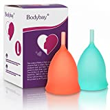Bodybay Menstrual Cup,Set of 2 Periods Kit with FDA Registered,Best Feminine Alternative Protection to Tampons and Cloth Sanitary Napkins (Large)