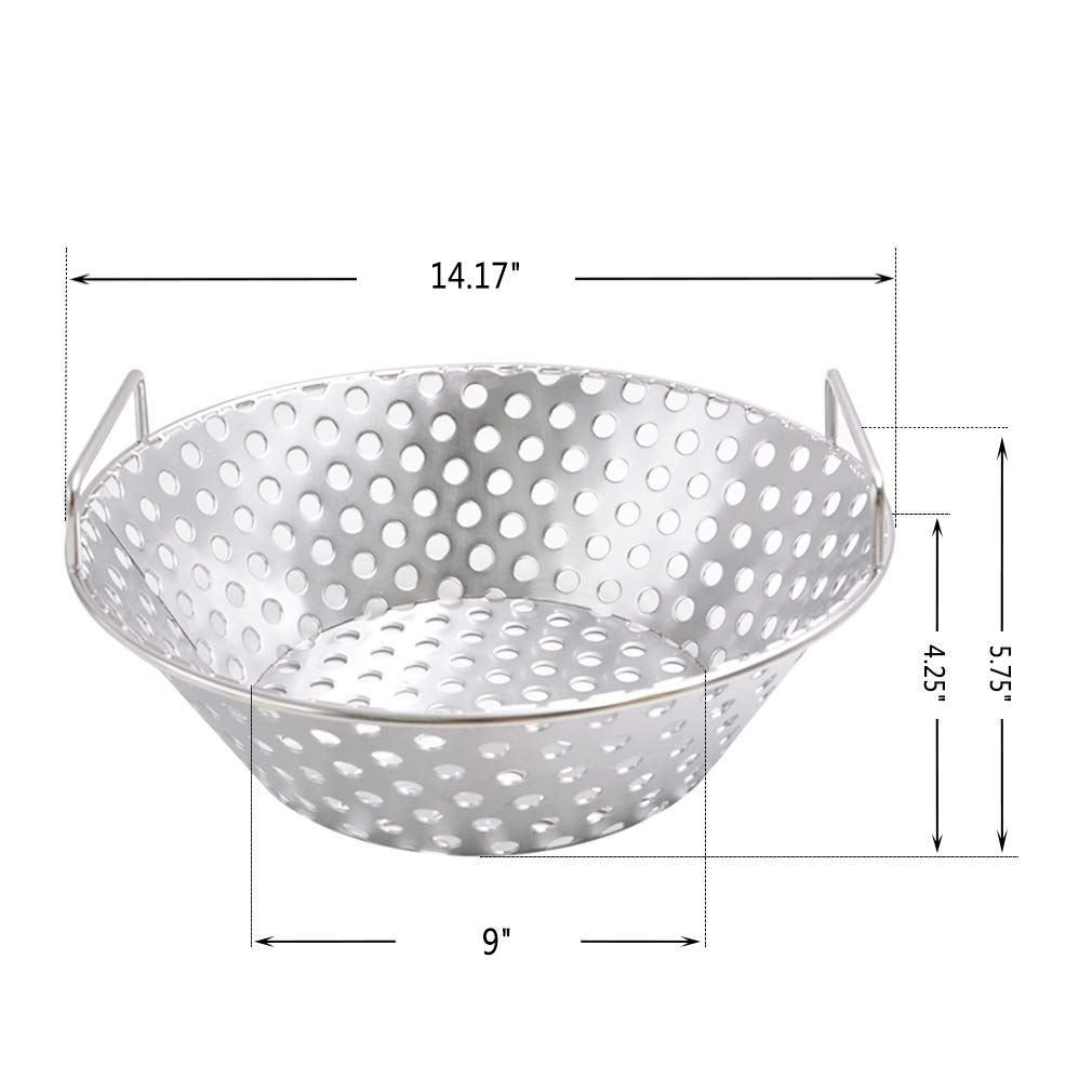 097a31e271fbf Skyflame Stainless Steel Charcoal Ash Basket Fits for Large BGE, Kamado Joe  Classic, Pit Boss, ...