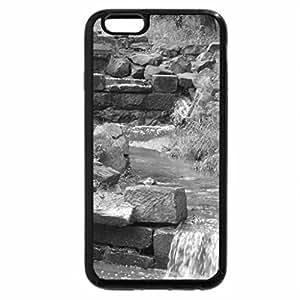 iPhone 6S Plus Case, iPhone 6 Plus Case (Black & White) - Tranquil Waterflow