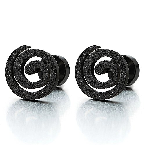 Women Earrings Illusion Tunnel Glitter product image