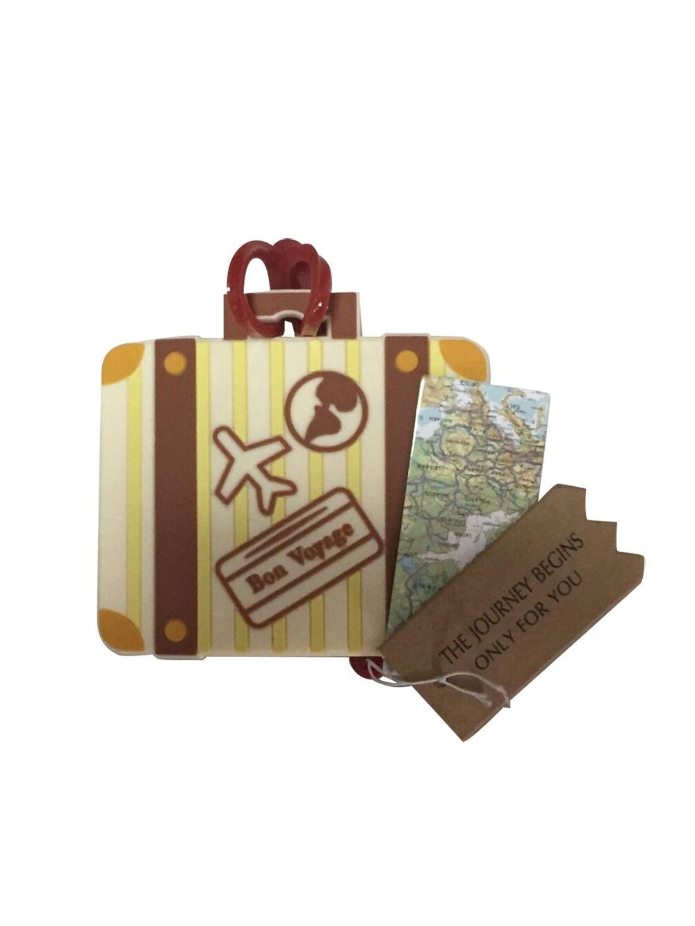36pcs ''Let the Journey Begin'' Vintage Suitcase Luggage Tag Baby Shower Gifts & Wedding Favors