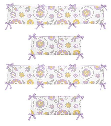 (Lavender and White Suzanna Collection Crib Bumper by Sweet Jojo Designs)