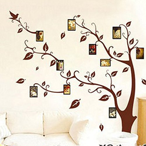 Photo Picture Frame Family Tree Wall Murals Removable Wall Sticker Vinyl Peels ,48