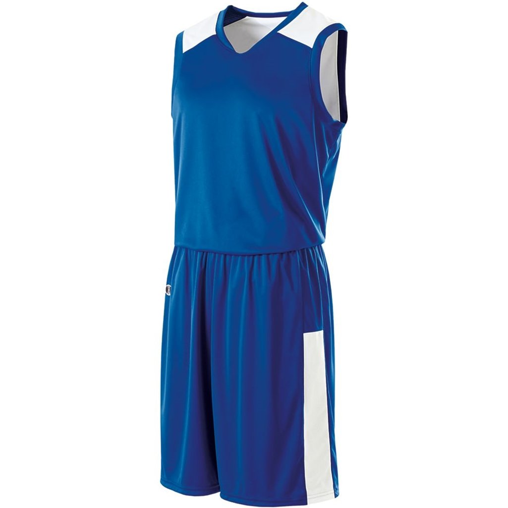 Holloway Ladies Reversible Nuclear Jersey (X-Small, Royal/White) by Holloway