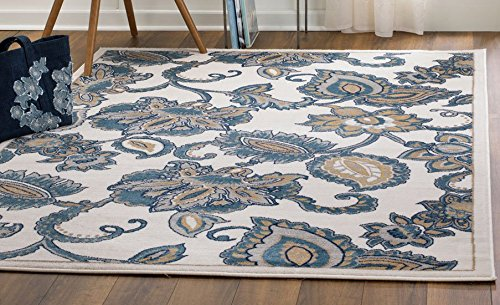 MADISON COLLECTION DF-LF4C-OG3W 402 Vintage Distressed Style Area Rug Clearance Soft Pile Durable Size Option (5), 5'x7'