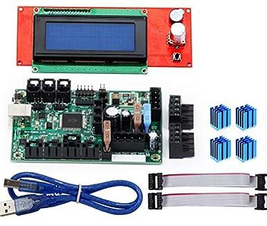 Amazon.com: Placa base Mini-Rambo 1.3a para impresora 3D ...