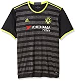 International Soccer Chelsea Men's Jersey, Medium, Black/Yellow/Granite