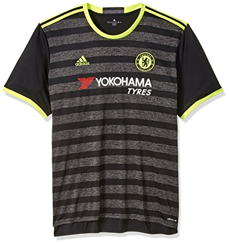adidas International Soccer Chelsea Men's Jersey, X-Large, Black/Yellow/Granite by adidas