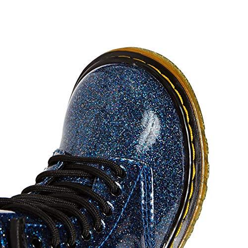 Glitter Martens 400 blue T 1460 Bambina Dr Blu Stivaletti fPqaf7