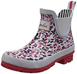 Joules Womens Wellibobs Winter Waterproof Ankle Rain Boots Wellingtons - Silver Woodland Squirrel Ditsy - 7