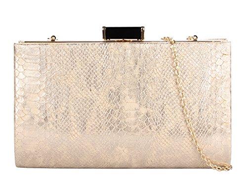 Grace Angel Women's Snake Skin Embossed PU Leather Evening Party Handbag GA9585