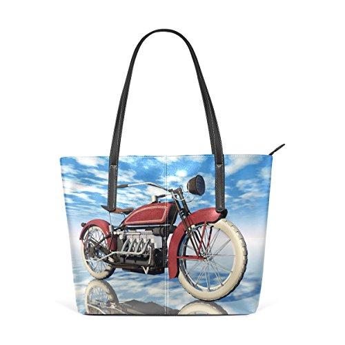 Leather Classic Totes Shoulder Motorcycle Handle Bags Women's PU Handbag Purses Fashion TIZORAX Top wBfqAw