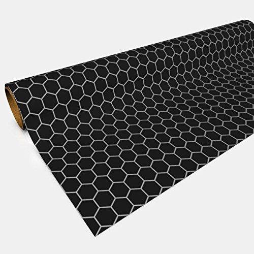 Black Gaming Paper 1in Hexes 30in x 12ft 1 ()
