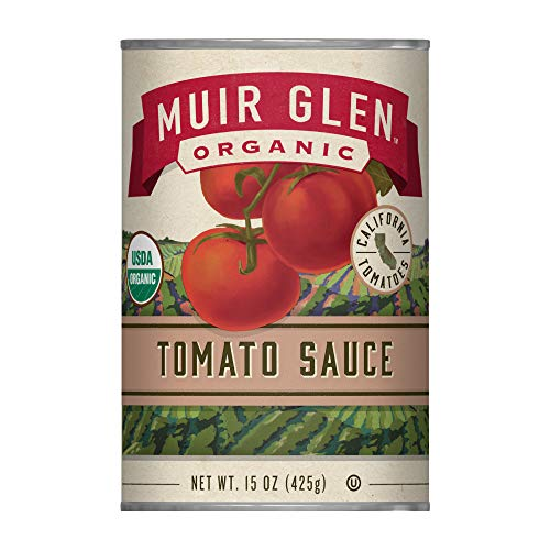 Muir Glen Organic Tomato Sauce, No Sugar Added, 15 Ounce Can (Pack of 12) (Organic Canned Tomatoes)