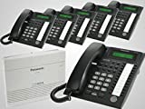 New Panasonic KX-TA824 + 6 New Panasonic KX-T7730 Black Phones