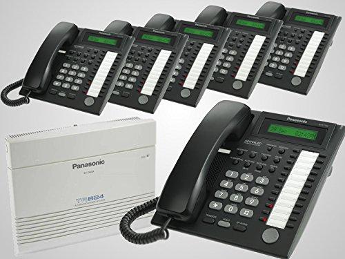 New Panasonic KX-TA824 + 6 New Panasonic KX-T7730 Black Phones (Panasonic Pbx Phone compare prices)
