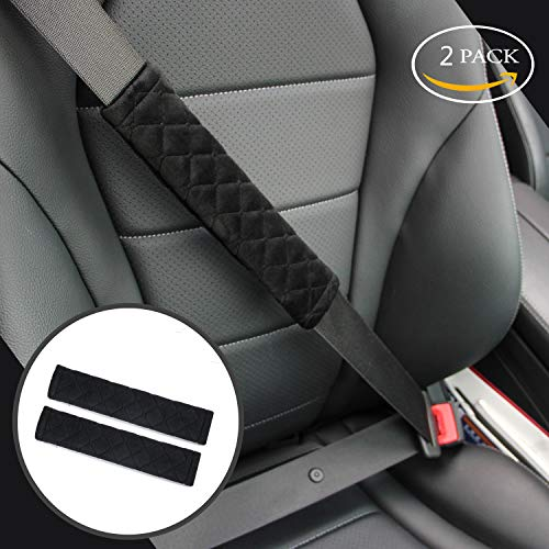Soft Auto Seat Belt Cover Seatbelt Shoulder Pad 2 PCS for a More Comfortable Driving Compatible with All Cars and Backpack