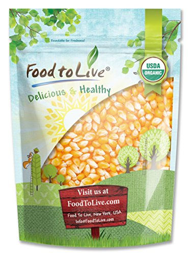 Organic Super Sweet Corn by Food to Live (Freze-Dried Kernels, Non-GMO, Kosher, Raw, Healthy Snack, Bulk, Grown in the USA) (4 Ounces)
