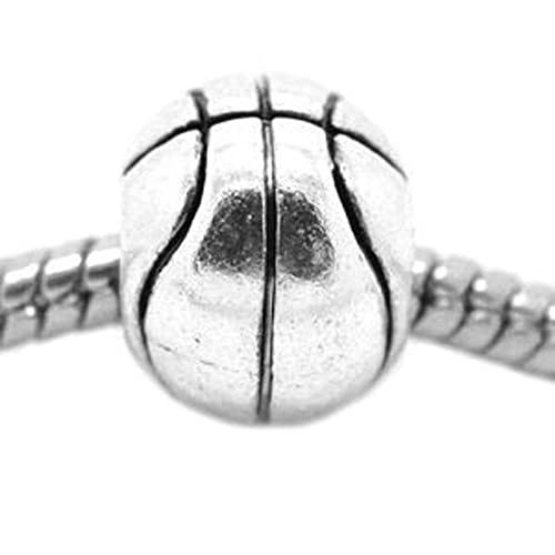 Sexy Sparkles mujeres de baloncesto encanto Spacer Beads Charm ...