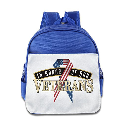 In-Honor-Of-Our-Veterans Toddler Kids Shoulder School Bag - Washington Seattle Mall