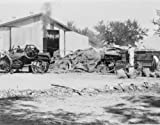 early 1900s photo Threshing rice with a steam thresher, Alabang, Rizal Provin c7
