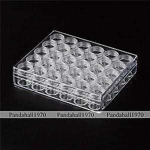 FidgetGear Plastic Beads Storage Containers 13.5cmx16cmx3.5cm Bottle: 26x29mm 30pcs/Box as Picture Show One Size